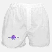 Purple Fancy Frog Boxer Shorts