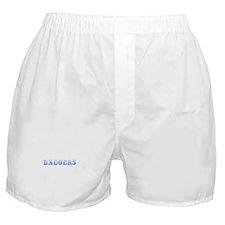 Badgers-Max blue 400 Boxer Shorts