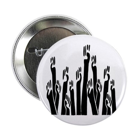 """Black Fists 2.25"""" Button (10 pack)"""