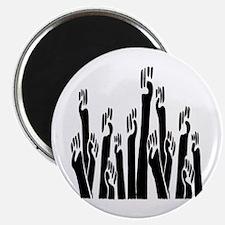 Black Fists Magnet
