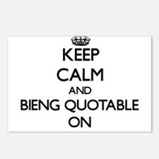 Keep Calm and Bieng Quota Postcards (Package of 8)