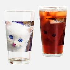 Blue-Eyed Kitten Drinking Glass