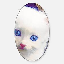 Blue-Eyed Kitten Decal