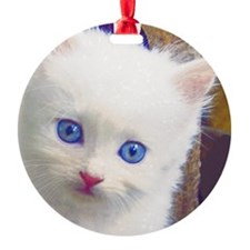 Blue-Eyed Kitten Ornament