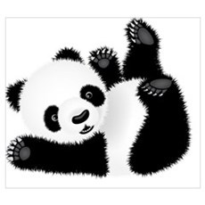 Baby Panda Canvas Art