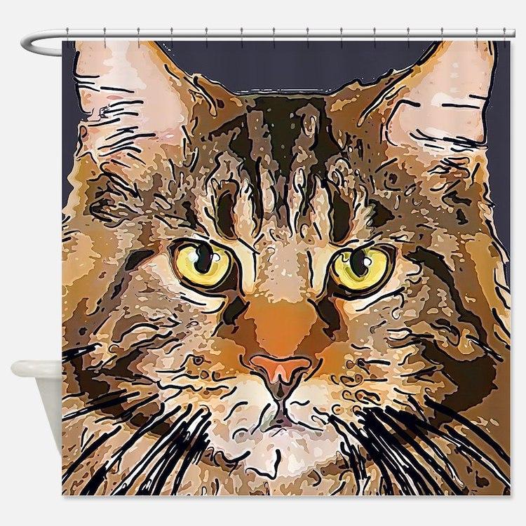 Majestic Cat Shower Curtain