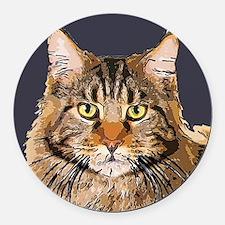 Majestic Cat Round Car Magnet