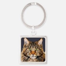 Majestic Cat Square Keychain