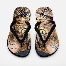 Majestic Cat Flip Flops