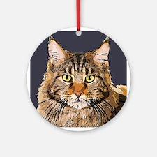 Majestic Cat Ornament (Round)