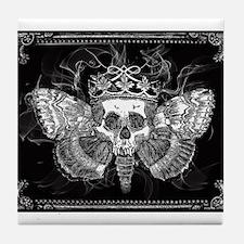vintage mothman skull Tile Coaster