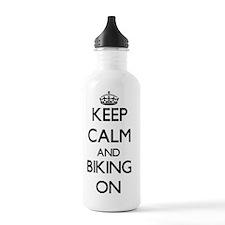 Keep Calm and Biking O Water Bottle