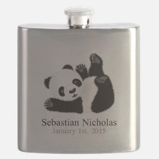 CUSTOM Baby Panda w/Name Birthdate Flask