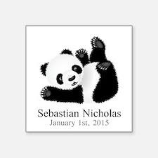 CUSTOM Baby Panda w/Name Birthdate Sticker