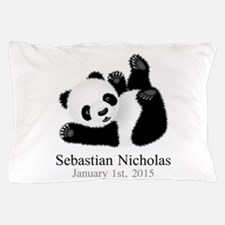 CUSTOM Baby Panda w/Name Birthdate Pillow Case