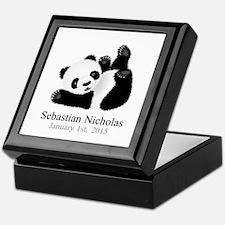 CUSTOM Baby Panda w/Name Birthdate Keepsake Box