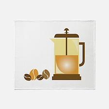 Press & Beans Throw Blanket