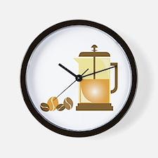 Press & Beans Wall Clock