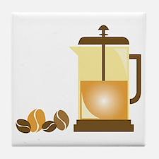 Press & Beans Tile Coaster