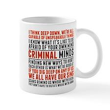 Criminal Minds Quotes Small Mug