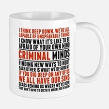 Criminal Minds Quotes Small Mugs