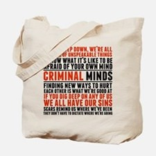 Criminal Minds Quotes Tote Bag