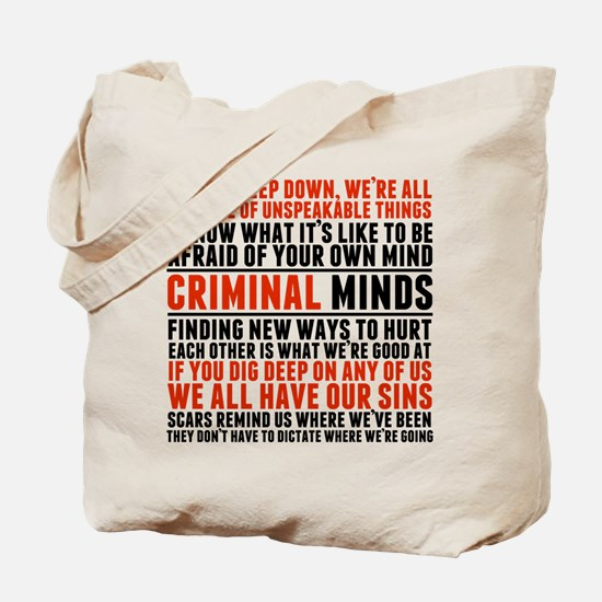Criminal Minds Quotes Tote Bag