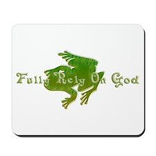 Green Fancy Frog Mousepad