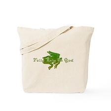 Green Fancy Frog Tote Bag