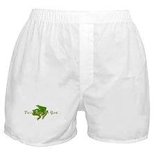 Green Fancy Frog Boxer Shorts