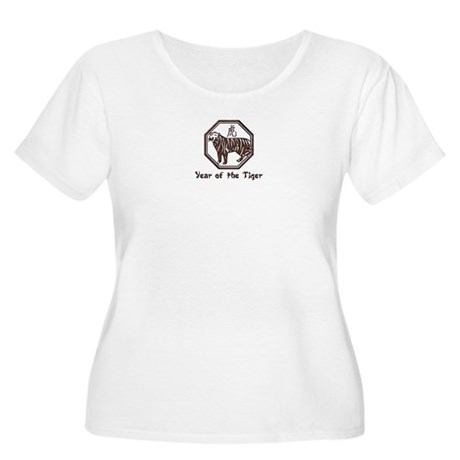 Year of the Tiger Women's Plus Size Scoop Neck T-S