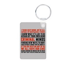 Criminal Minds Quotes Keychains