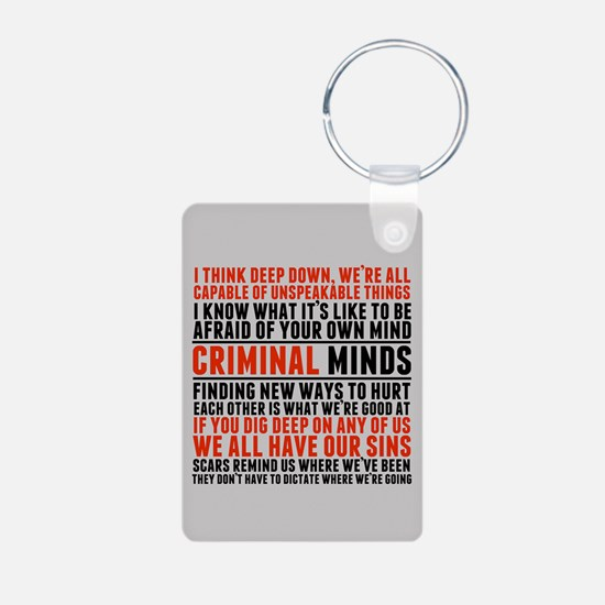 Criminal Minds Quotes Keychains