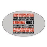 Criminal minds Stickers & Flair