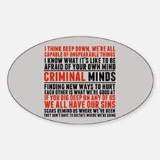 Criminal Minds Quotes Sticker (Oval)