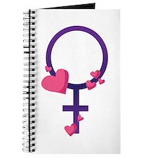 Heart Female Symbol Journal