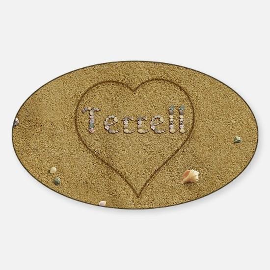 Terrell Beach Love Sticker (Oval)