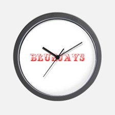 Bluejays-Max red 400 Wall Clock