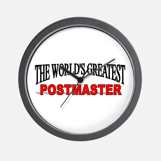 """""""The World's Greatest Postmaster"""" Wall Clock"""