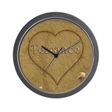 Terrance Beach Love Wall Clock
