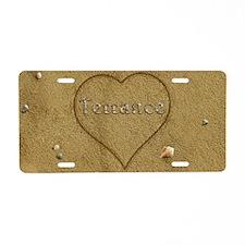 Terrance Beach Love Aluminum License Plate
