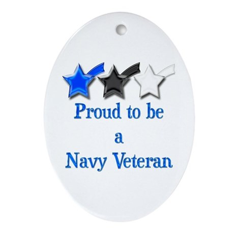 Navy Vet Oval Ornament