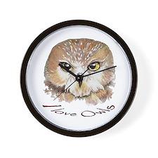 """I Love Owls"" Cute Watercolor Owl Bird W"