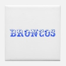 Broncos-Max blue 400 Tile Coaster