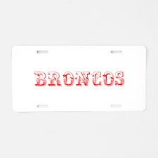Broncos-Max red 400 Aluminum License Plate