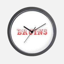 Bruins-Max red 400 Wall Clock