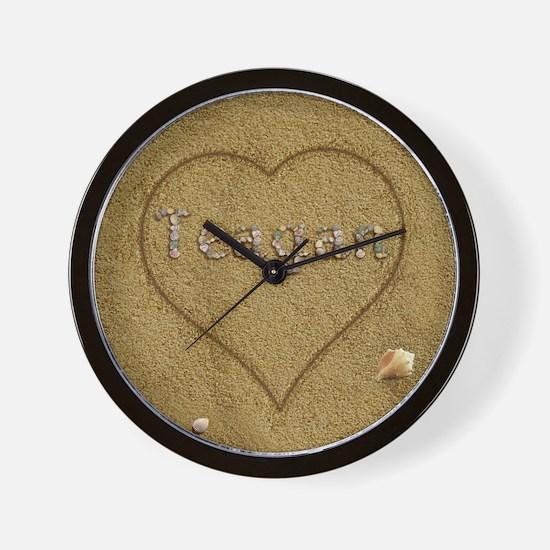 Teagan Beach Love Wall Clock