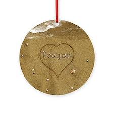 Teagan Beach Love Ornament (Round)