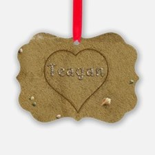 Teagan Beach Love Ornament