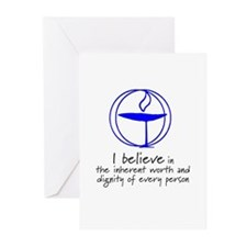 Inherent worth and dignity Greeting Cards (Pk of 1